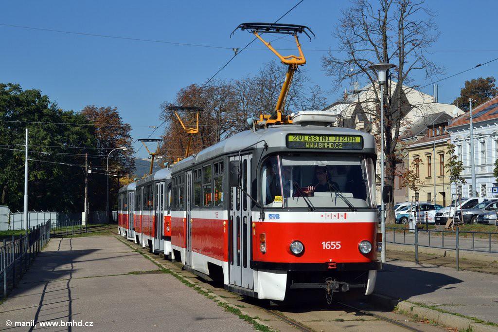 Fotogalerie » Pragoimex T3R.PV 1655 | Pragoimex T3R.PV 1657 | Pragoimex T3R.PV 1658 | Brno | Pisárky | Hlinky | Výstaviště, hlavní vstup