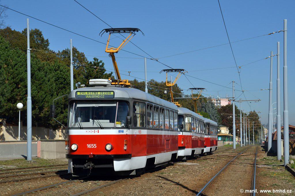 Fotogalerie » Pragoimex T3R.PV 1655 | Pragoimex T3R.PV 1657 | Pragoimex T3R.PV 1658 | Brno | Štýřice | Vídeňská