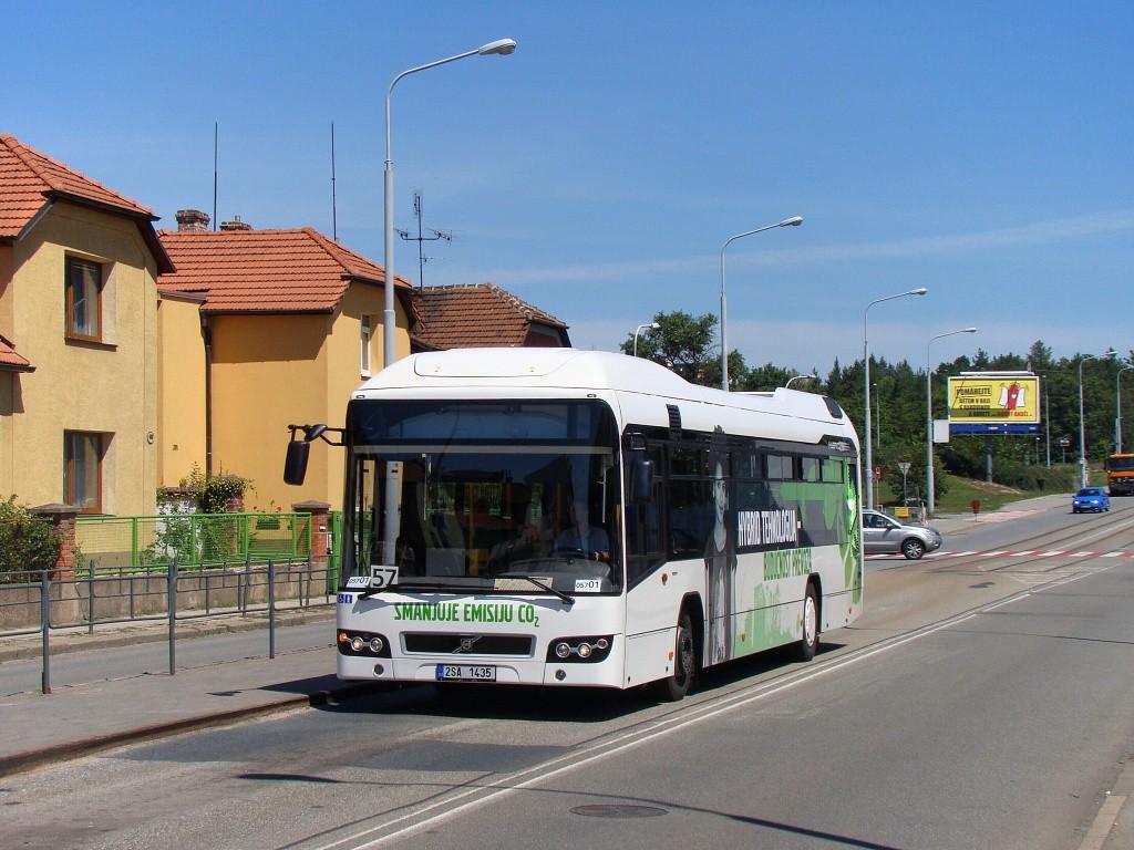 Fotogalerie » Volvo 7700LH 2SA 1435 2714   Brno   Černá Pole   Merhautova   Štefánikova čtvrť