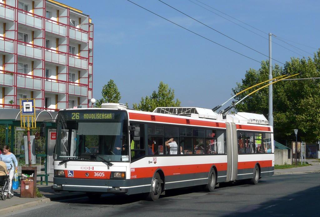 Fotogalerie » Škoda 22Tr 3605 | Brno | Vinohrady | Pálavské náměstí | Bzenecká