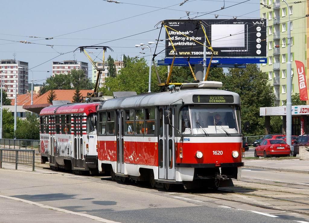 Fotogalerie » ČKD Tatra T3P 1620   ČKD Tatra T3P 1589   Brno   Královo Pole   Palackého třída