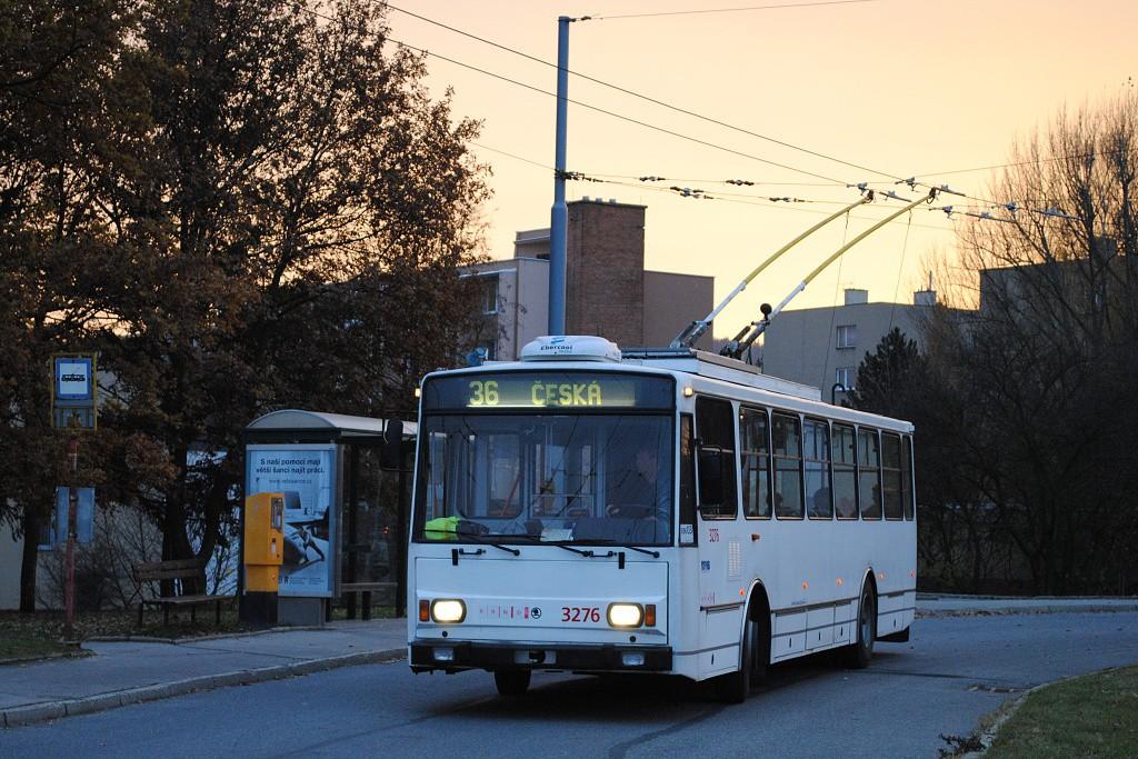 Fotogalerie » Škoda 14TrR 3276 | Brno | Komín | Řezáčova | Komín, sídliště