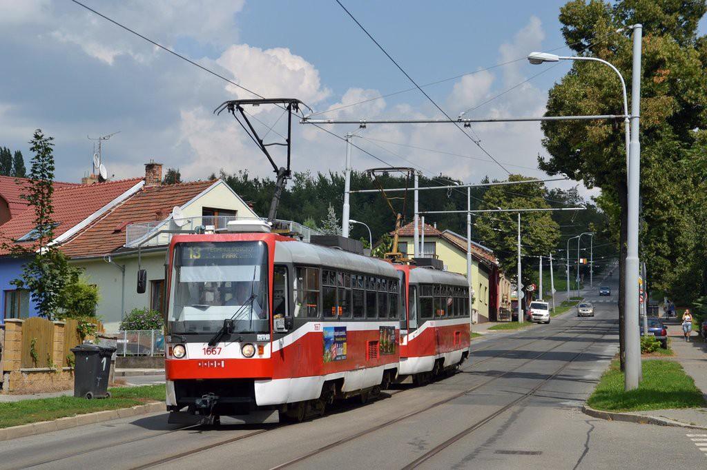 Fotogalerie » ČKD DS T3R 1667 | ČKD DS T3R 1668 | Brno | Juliánov | Líšeňská