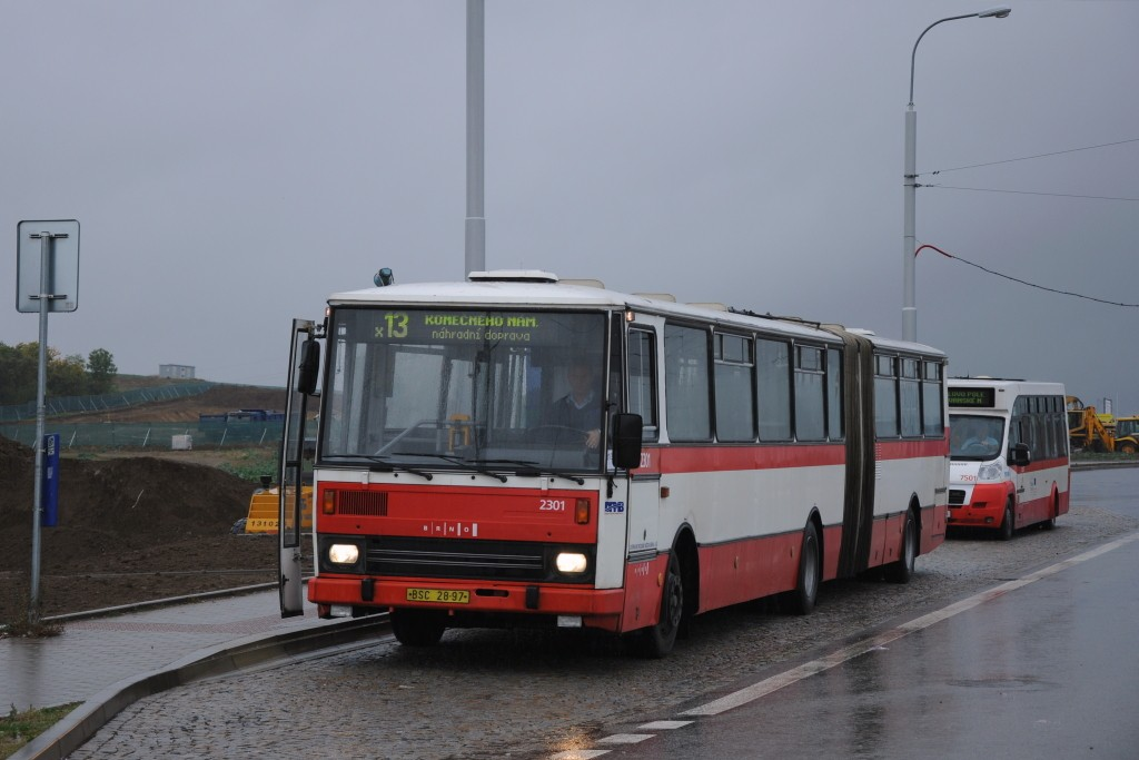 Fotogalerie » Karosa B741.1916 BSC 28-97 2301 | MAVE-Fiat CiBus ENA MAXI 6B6 6830 7501 | Brno | Královo Pole | Purkyňova | Technologický park