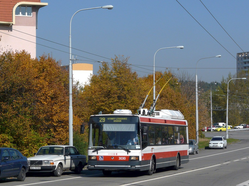 Fotogalerie » Škoda 21Tr 3030 | Brno | Kohoutovice | Libušina třída