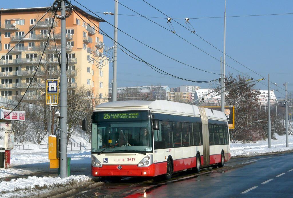 Fotogalerie » Škoda 25Tr Citelis 1B 3617 | Brno | Líšeň | Novolíšeňská | Novolíšeňská