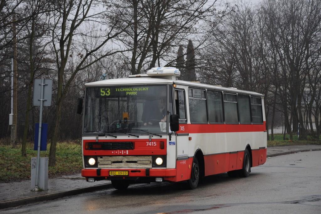 Fotogalerie » Karosa B731.1669 BSC 69-03 7415 | Brno | Královo Pole | U Vodárny | Palackého vrch