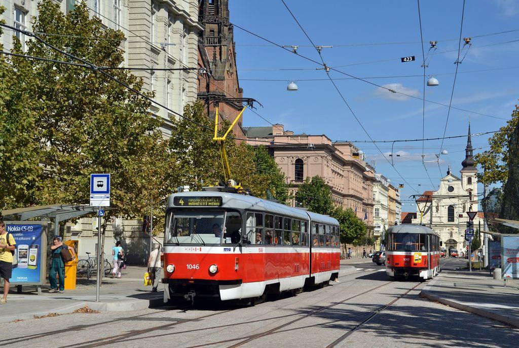 Fotogalerie » ČKD Tatra K2P 1046 | Brno | střed | Joštova | Komenského Náměstí