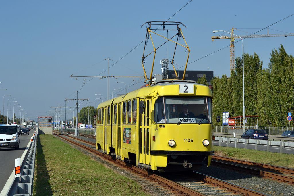 Fotogalerie » ČKD Tatra K2 1106 | Brno | Přízřenice | Vídeňská