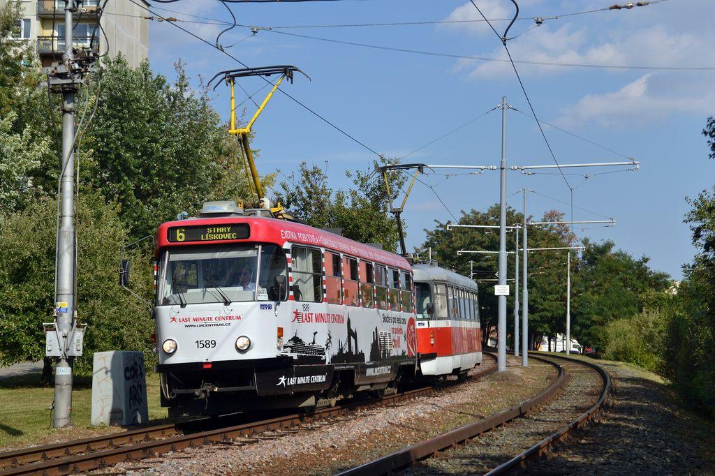 Fotogalerie » ČKD Tatra T3P 1589 | Pragoimex T3R.PV 1558 | Brno | Starý Lískovec