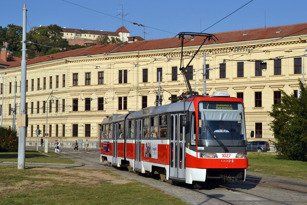 Fotogalerie » ČKD Tatra K2R03 1027 | Brno | Staré Brno | Mendlovo náměstí