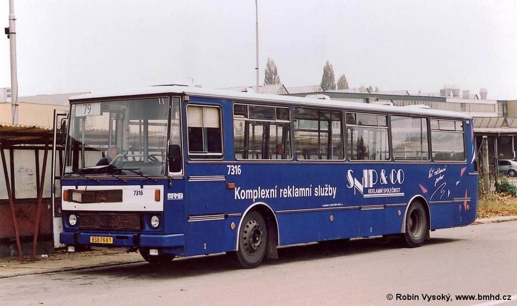 Fotogalerie » Karosa B732.1652 BSB 76-61 7316 | Brno | Líšeň | Trnkova | Zetor, smyčka
