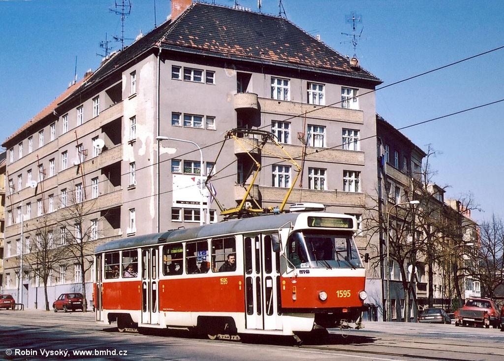 Fotogalerie » ČKD Tatra T3P 1595 | Brno | Královo Pole | Palackého třída