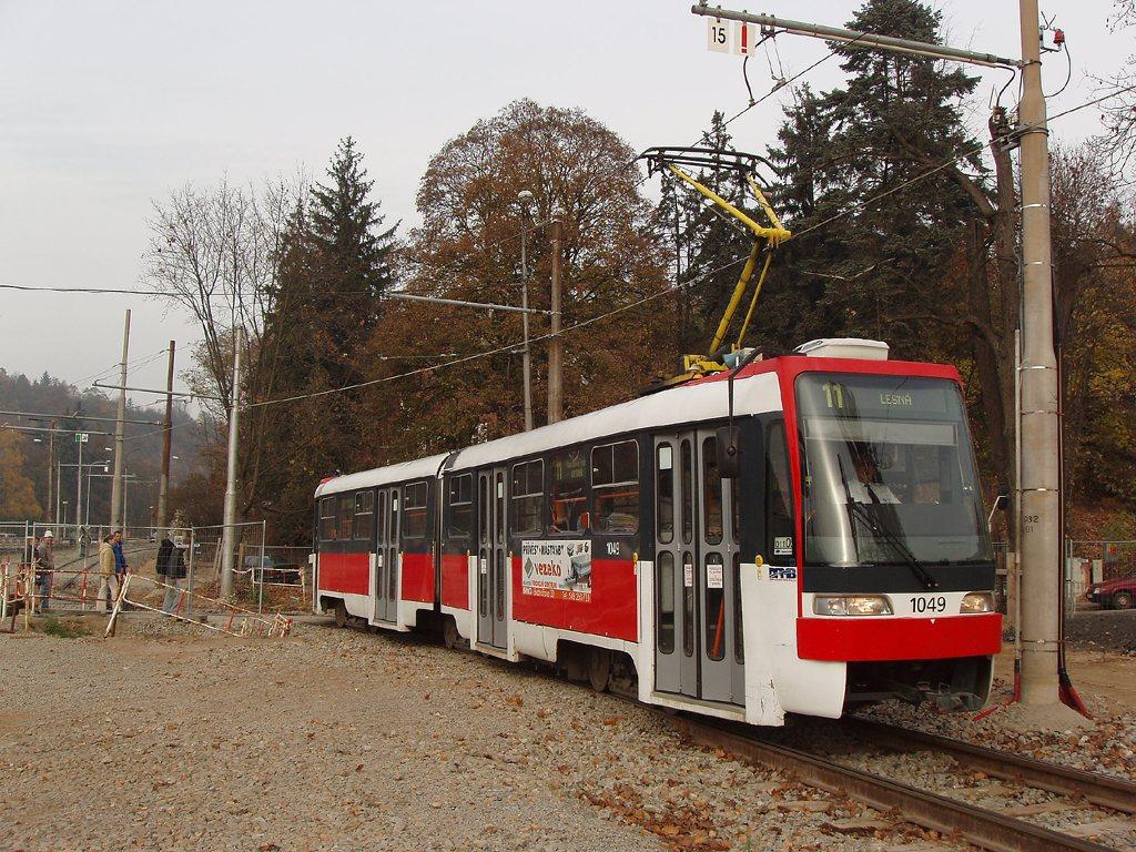 Fotogalerie » ČKD Tatra K2R03-P 1049 | Brno | Pisárky | Kamenomlýnská