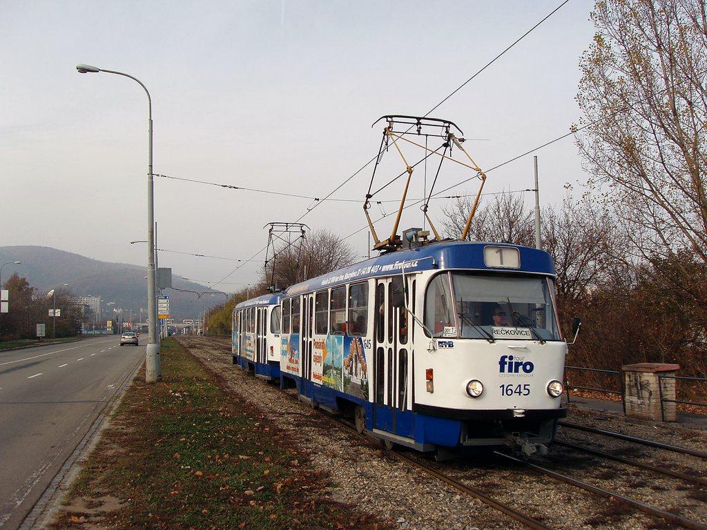 Fotogalerie » ČKD Tatra T3G 1645 | ČKD Tatra T3G 1646 | Brno | Žabovřesky | Kníničská