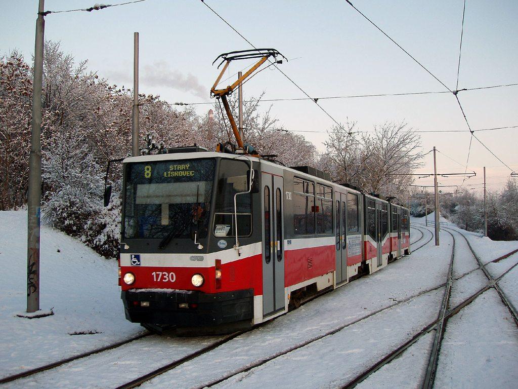 Fotogalerie » ČKD Tatra KT8D5N 1730 | Brno | Židenice