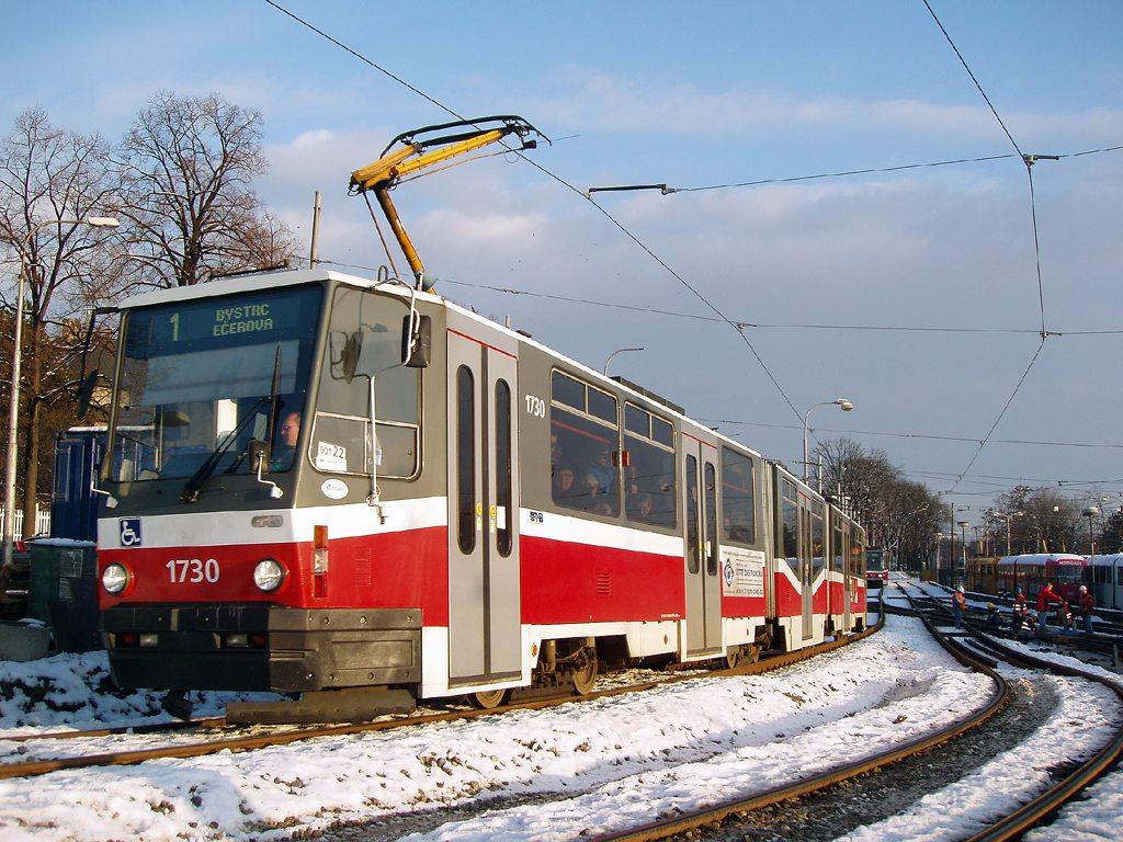 Fotogalerie » ČKD Tatra KT8D5N 1730   Brno   Pisárky   Hlinky