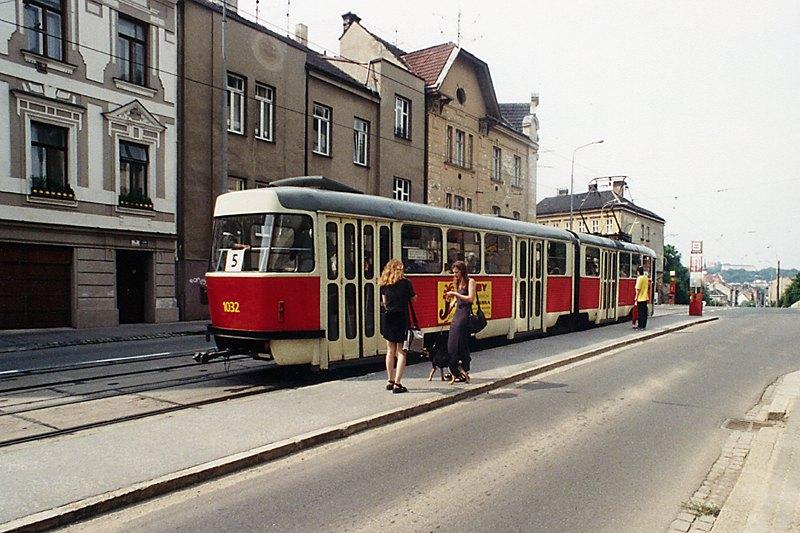 Fotogalerie » ČKD Tatra K2 1032 | Brno | Černá Pole | Merhautova | Dětská nemocnice