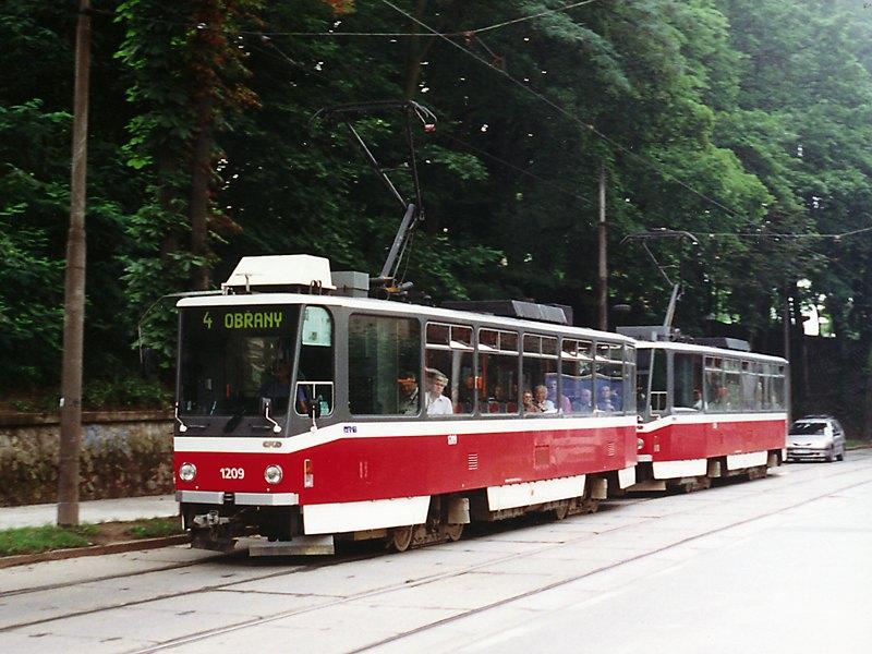 Fotogalerie » ČKD DS T6A5 1209 | ČKD DS T6A5 1210 | Brno | Veveří | Údolní