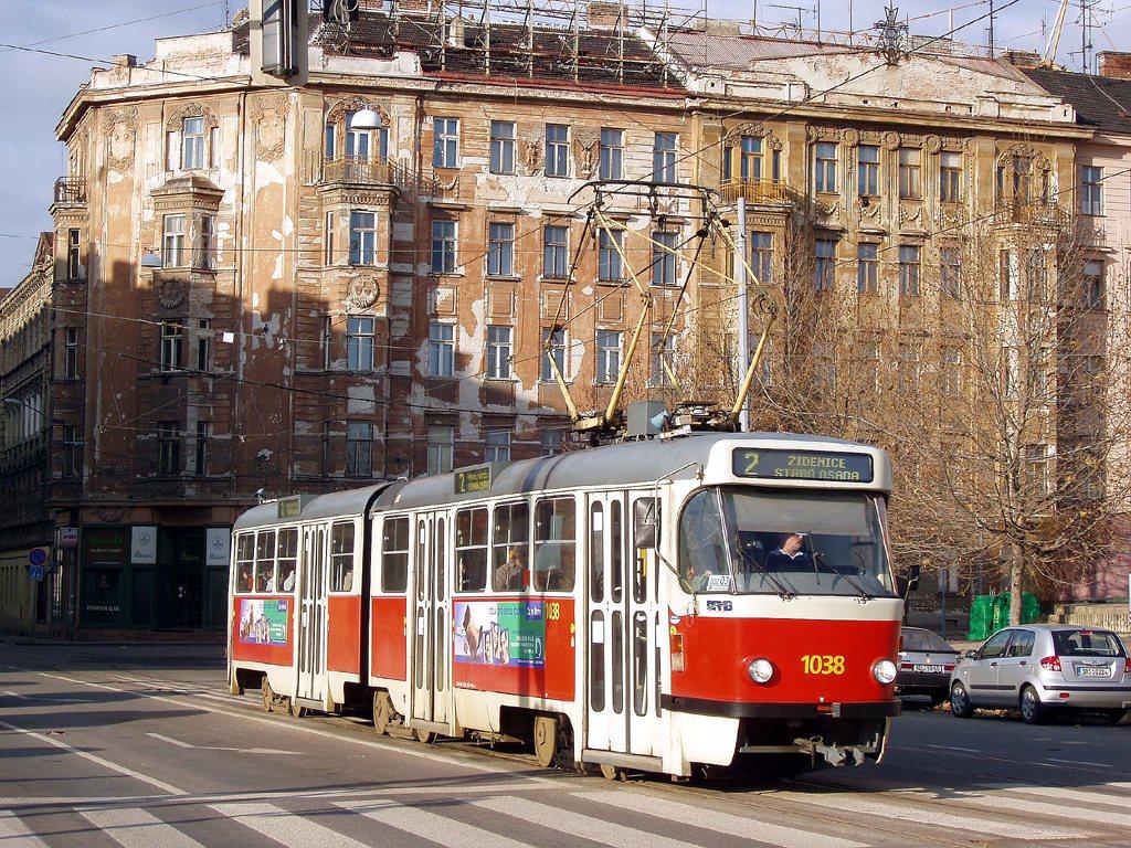 Fotogalerie » ČKD Tatra K2T 1038 | Brno | střed | Hybešova