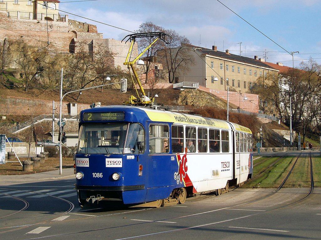 Fotogalerie » ČKD Tatra K2P 1086   Brno   střed   Nové sady