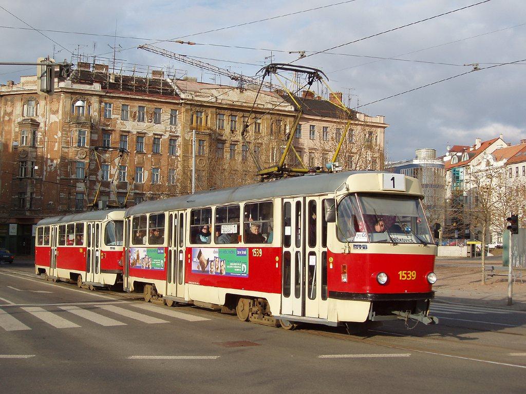Fotogalerie » ČKD Tatra T3 1539 | ČKD Tatra T3 1598 | Brno | střed | Hybešova