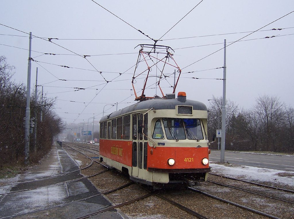 Fotogalerie » Tatra T2 služební 4121   Brno   Žabovřesky   Kníničská