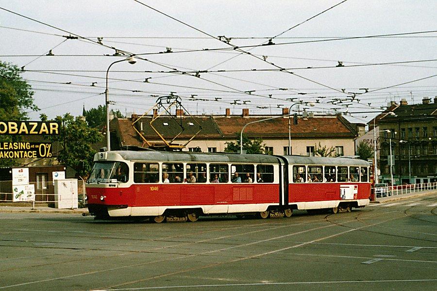Fotogalerie » ČKD Tatra K2MM 1046 | Brno | Černá Pole | Jugoslávská | Jugoslávská