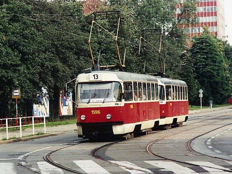 Fotogalerie » ČKD Tatra T3 1596   Brno   Žabovřesky   Jana Babáka
