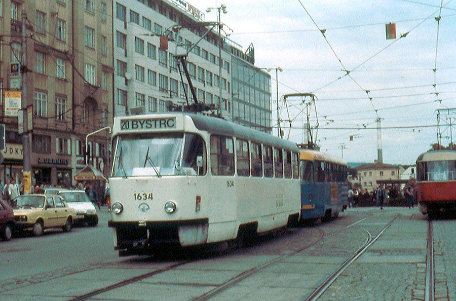Fotogalerie » ČKD Tatra T3G 1634 | ČKD Tatra T3G 1616 | Brno | střed | Nádražní