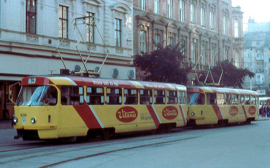 Fotogalerie » ČKD Tatra T3SUCS 1639 | ČKD Tatra T3SUCS 1640 | Brno | střed | Česká | Česká