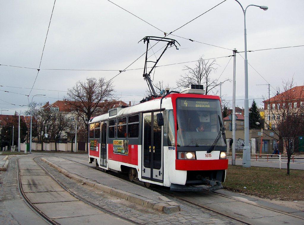 Fotogalerie » ČKD DS T3R 1615 | Brno | Masarykova čtvrť | Náměstí míru | Náměstí Míru, smyčka