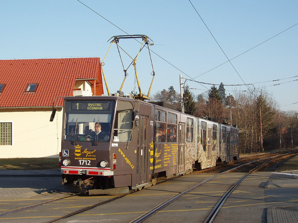 Fotogalerie » ČKD Tatra KT8D5R.N2 1712 | Brno | Komín | Branka