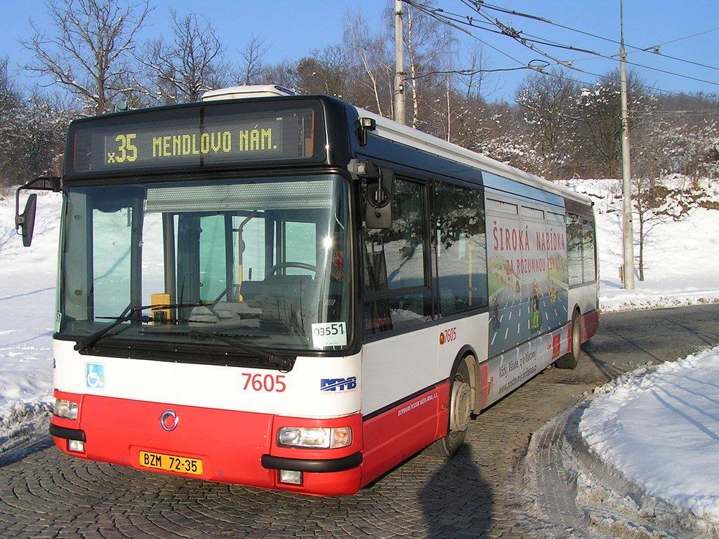 Fotogalerie » Irisbus Citybus 12M 2071.20 7605 | Brno | Kamenný Vrch | Kamenný Vrch, smyčka