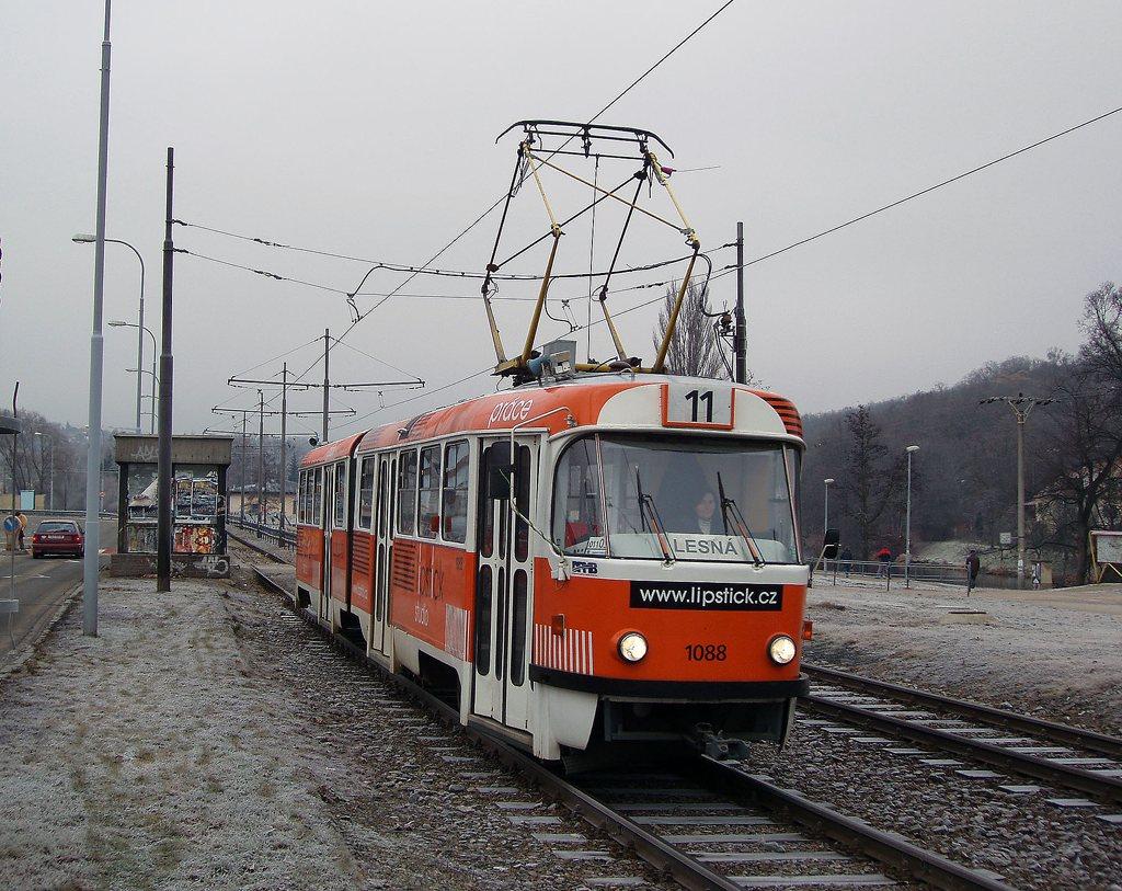 Fotogalerie » ČKD Tatra K2 1088 | Brno | Bystrc | Obvodová