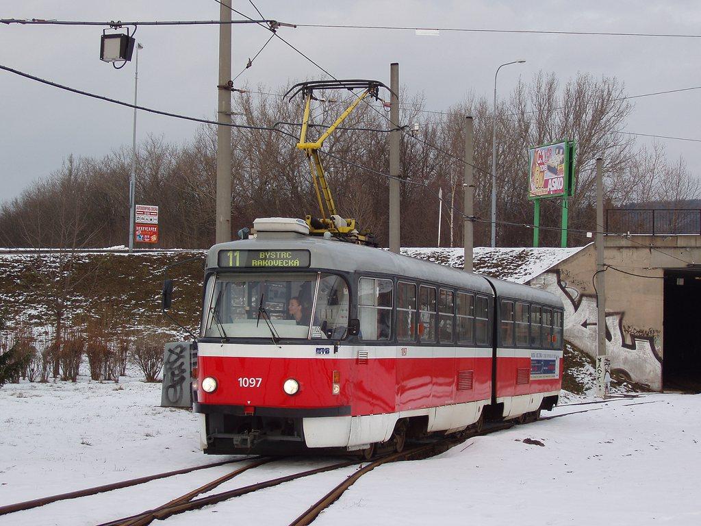 Fotogalerie » ČKD Tatra K2P 1097 | Brno | Bystrc | Rakovecká | Rakovecká, smyčka