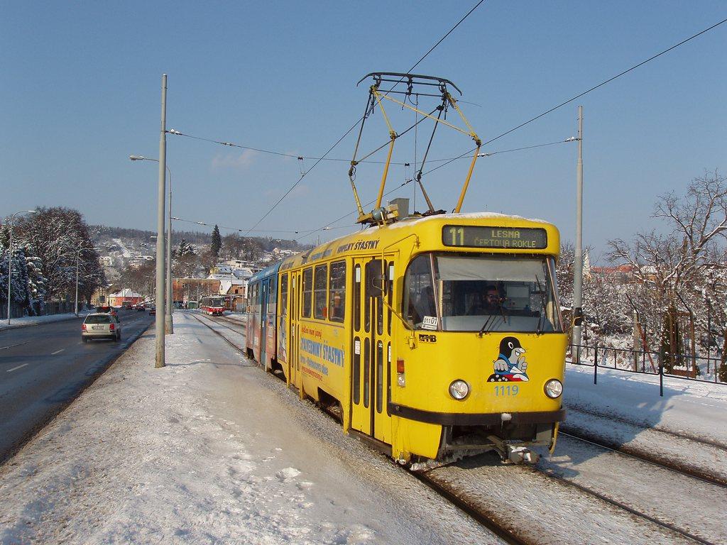 Fotogalerie » ČKD Tatra K2P 1119 | Brno | Komín | Kníničská