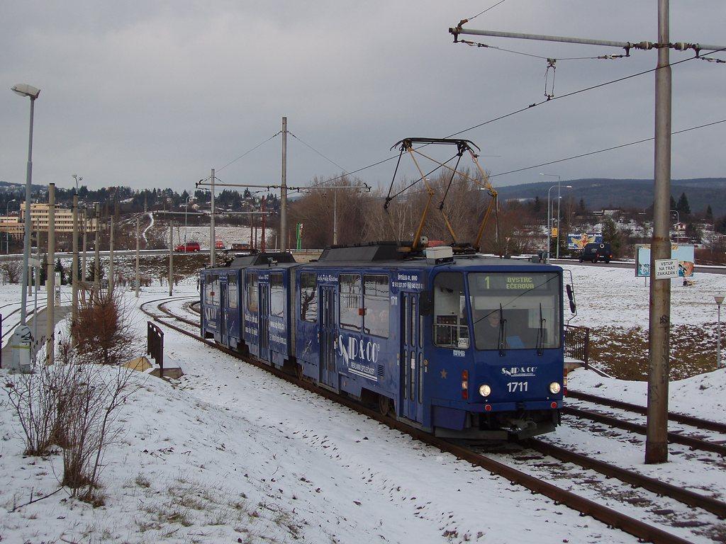 Fotogalerie » ČKD Tatra KT8D5 1711 | Brno | Bystrc