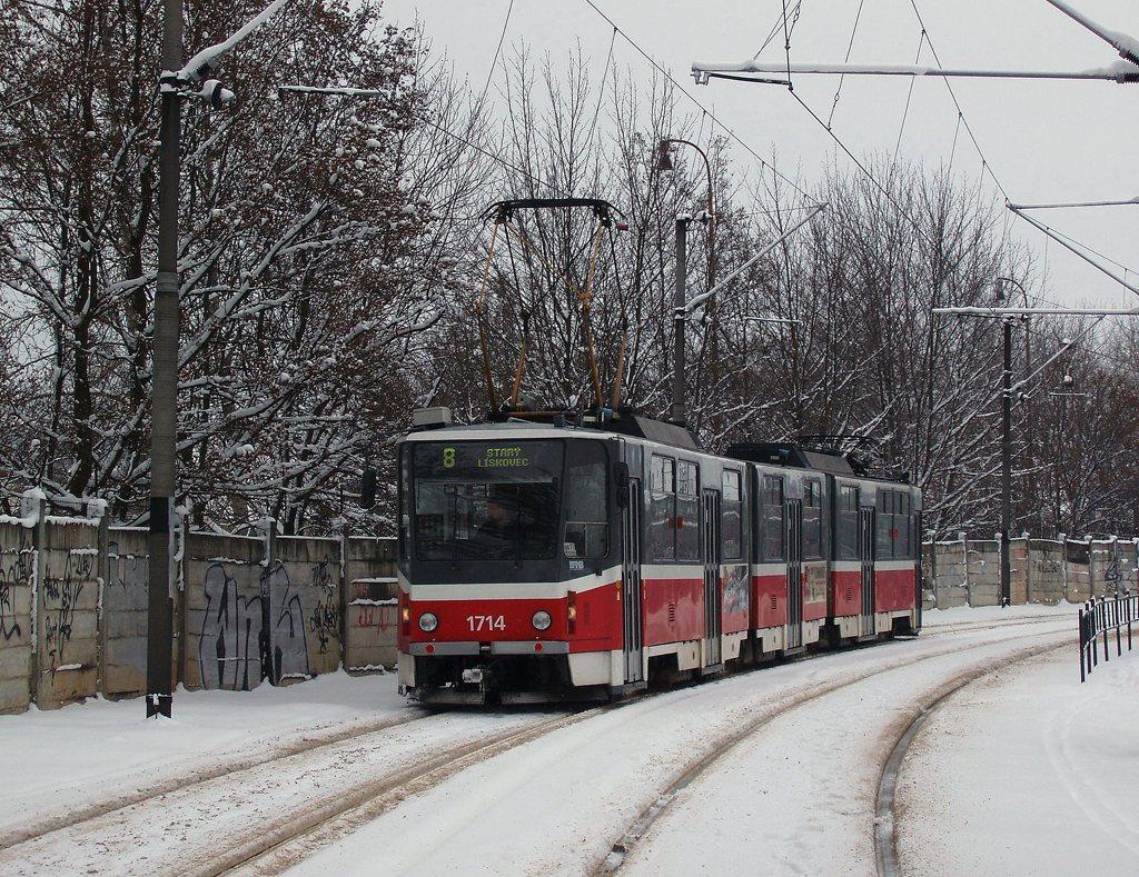 Fotogalerie » ČKD Tatra KT8D5 1714 | Brno | Stránská skála