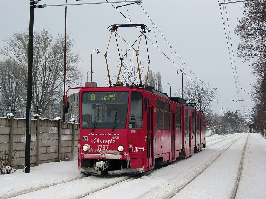 Fotogalerie » ČKD Tatra KT8D5R.N2 1737   Brno   Podstránská