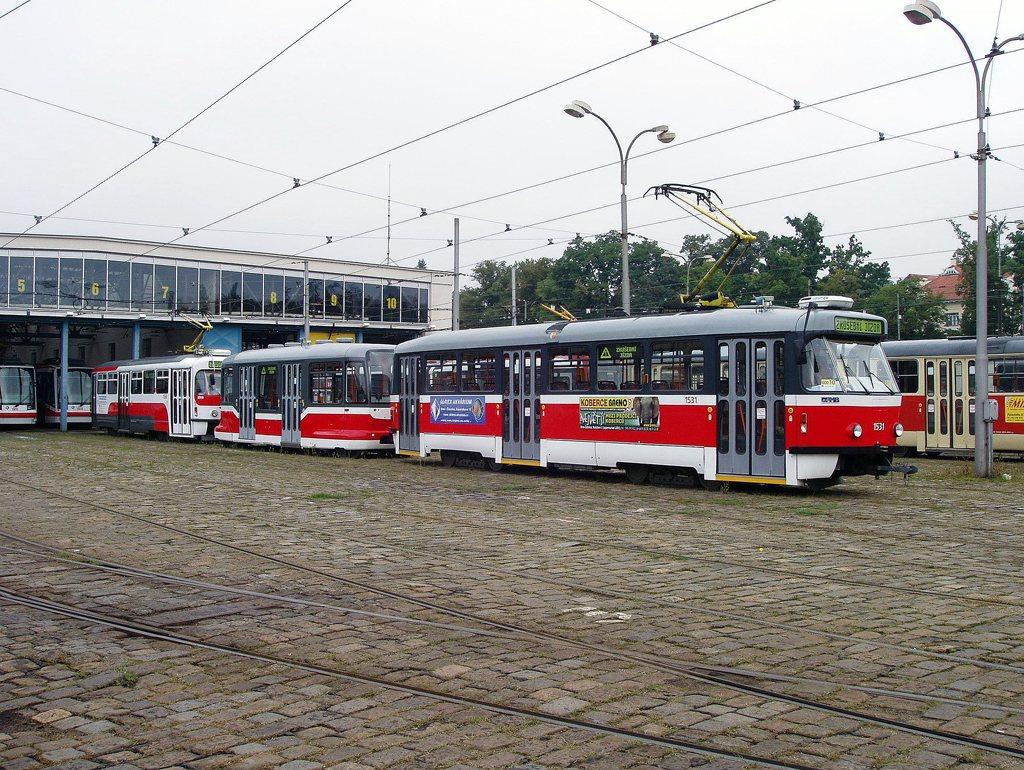 Fotogalerie » Pragoimex T3R.EV 1531 | Pragoimex VV60LF 1301 | Pragoimex T3R.EV 1560 | Brno | Vozovna Pisárky
