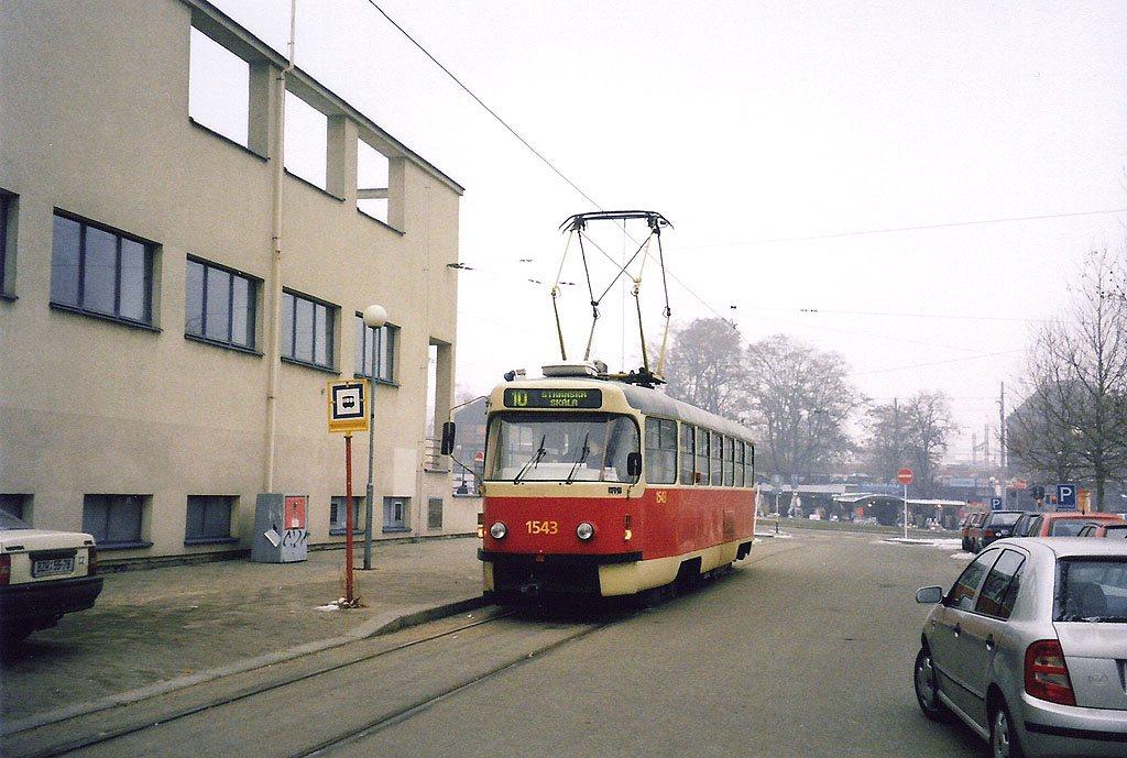 Fotogalerie » ČKD Tatra T3P 1543 | Brno | střed | Nádražní | Nové sady, smyčka