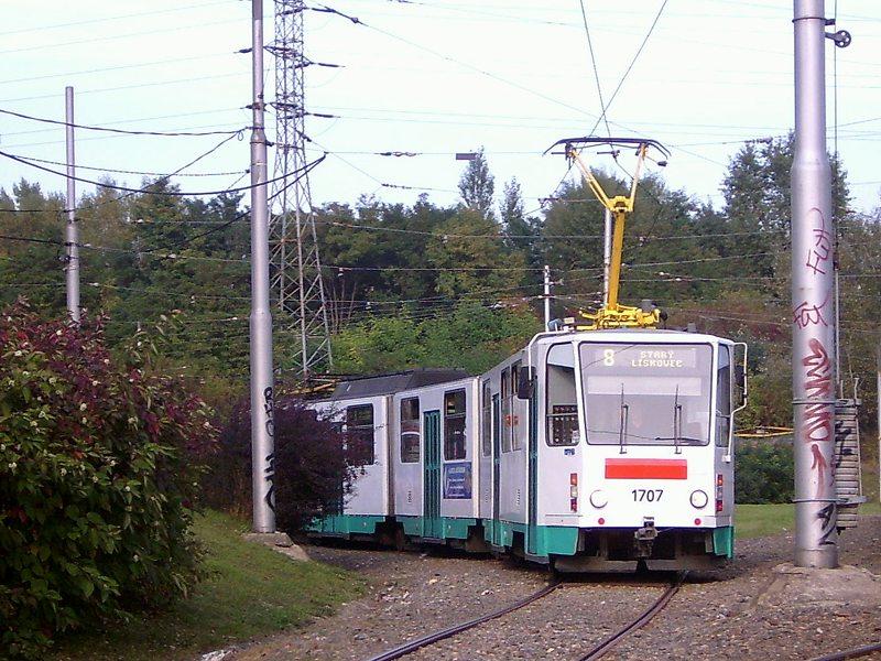 Fotogalerie » ČKD Tatra KT8D5 1707 | Brno | Líšeň