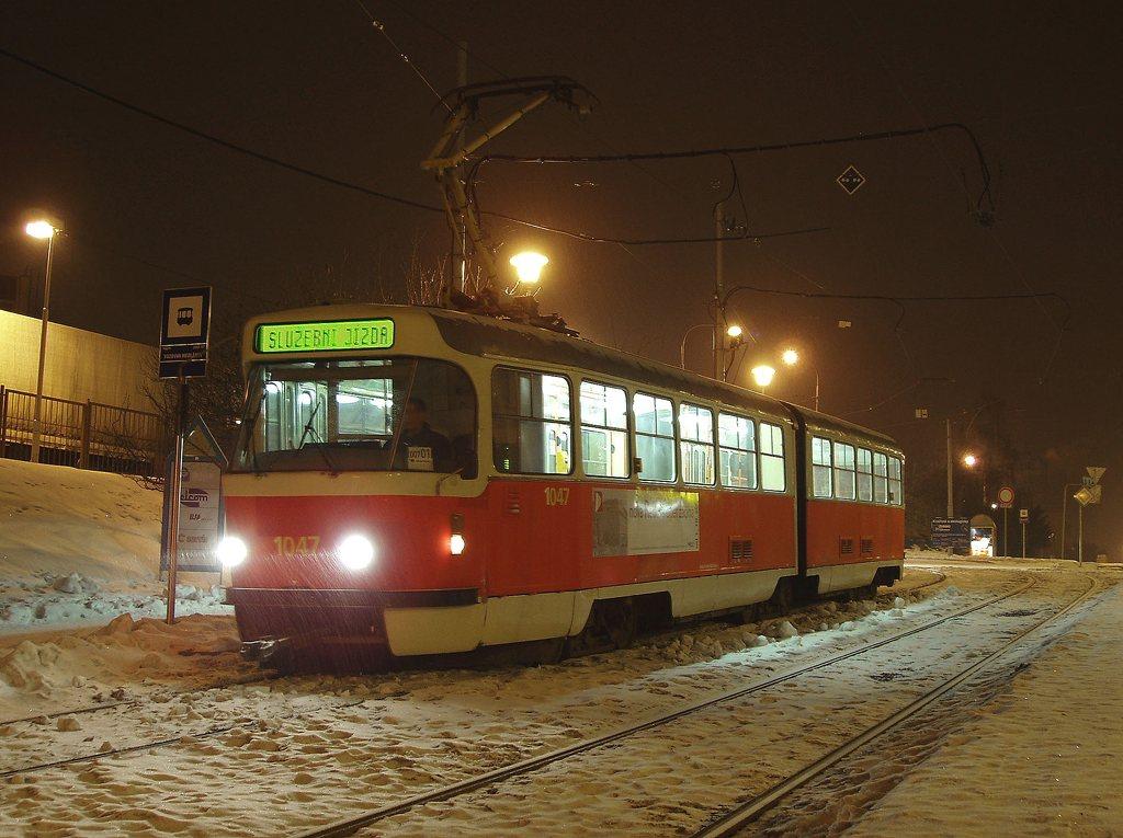 Fotogalerie » ČKD Tatra K2P 1047 | Brno | Medlánky | Hudcova | Vozovna Medlánky