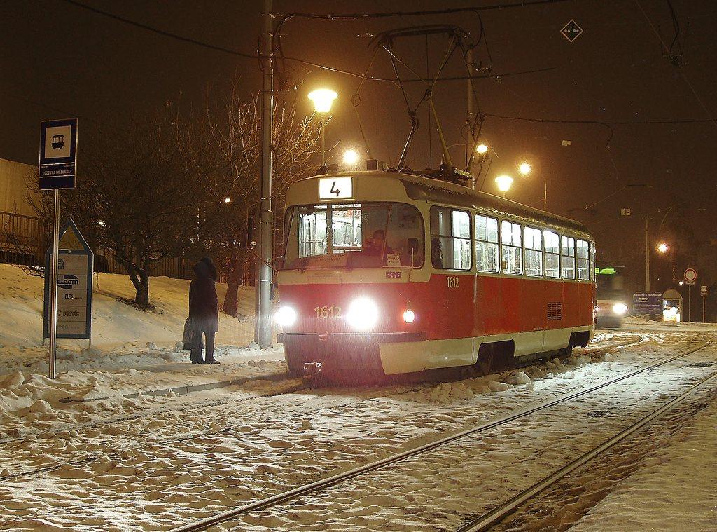 Fotogalerie » ČKD Tatra T3G 1612 | Brno | Medlánky | Hudcova | Vozovna Medlánky
