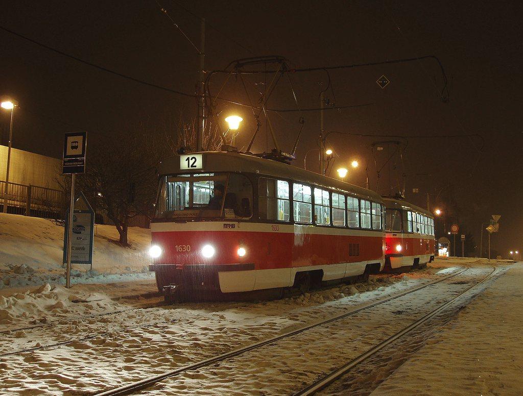 Fotogalerie » ČKD Tatra T3T 1630 | ČKD Tatra T3T 1627 | Brno | Medlánky | Hudcova | Vozovna Medlánky