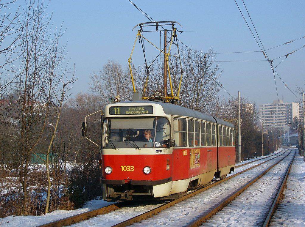 Fotogalerie » ČKD Tatra K2T 1033 | Brno | Žabovřesky