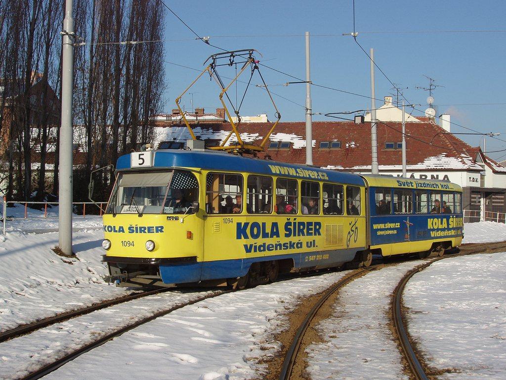 Fotogalerie » ČKD Tatra K2 1094 | Brno | Štýřice | Vídeňská