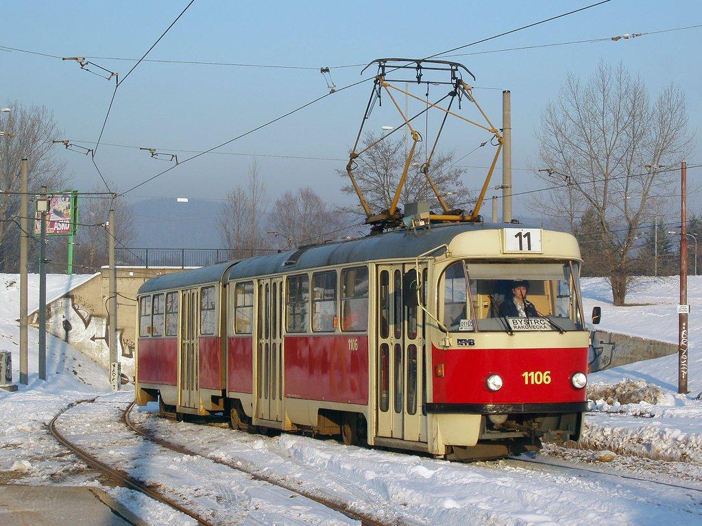 Fotogalerie » ČKD Tatra K2 1106 | Brno | Bystrc | Rakovecká | Rakovecká, smyčka