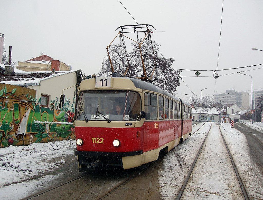 Fotogalerie » ČKD Tatra K2YU 1122 | Brno | Žabovřesky | Sochorova | Sochorova